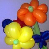Ein Blumenstrauss aus Luftballons bei einem Auftritt in Lingen.